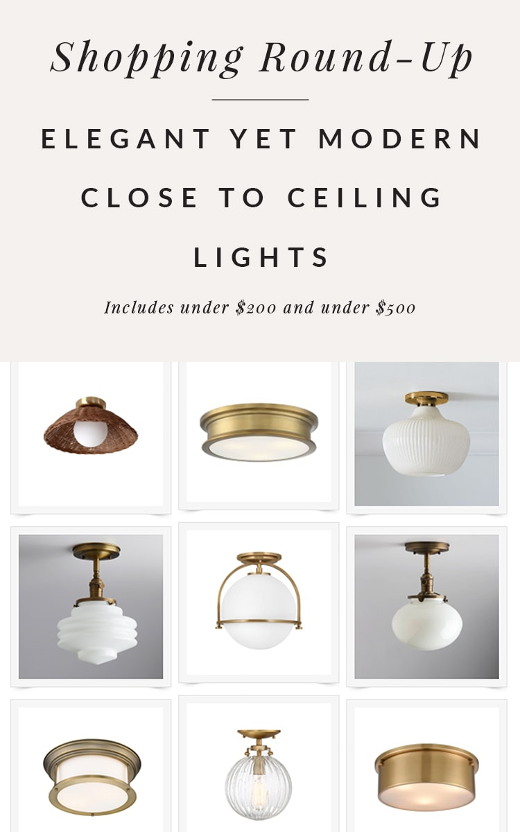 Modern close to ceiling lights