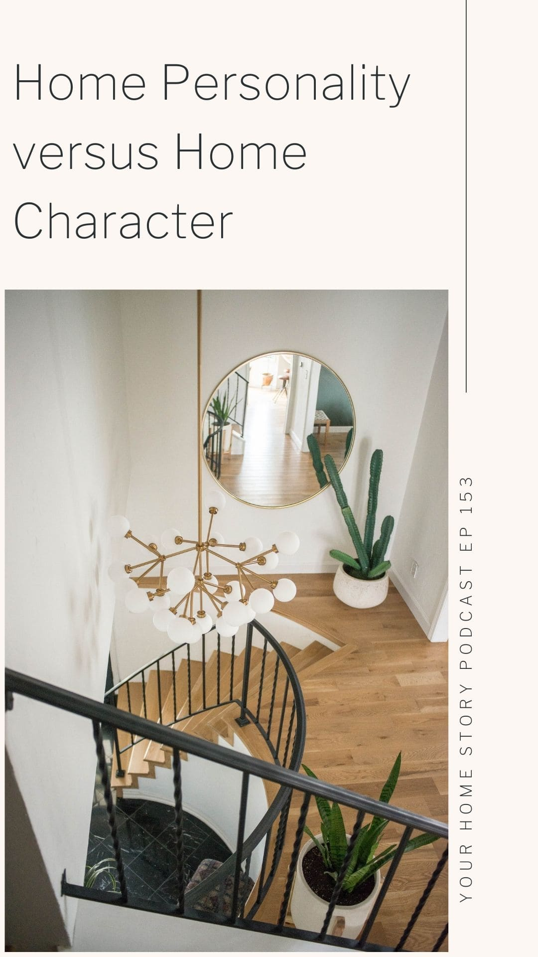 What is home personality? Home character? Showing a circle stairs for home character.