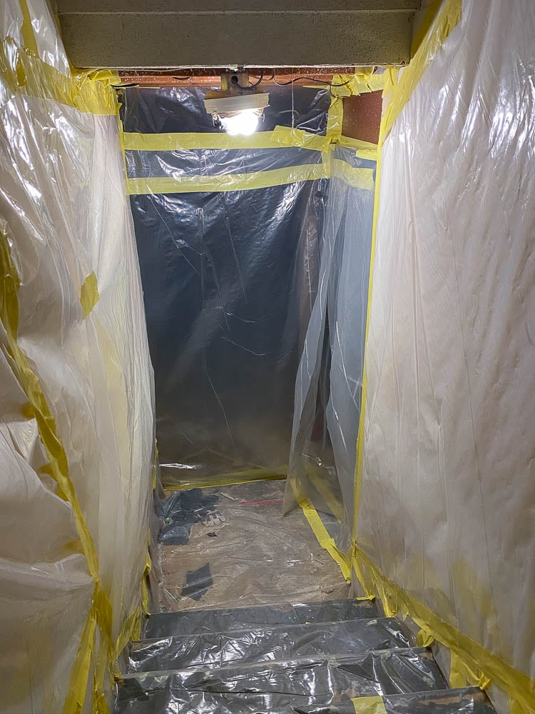 asbestos abatement in basement for ceiling