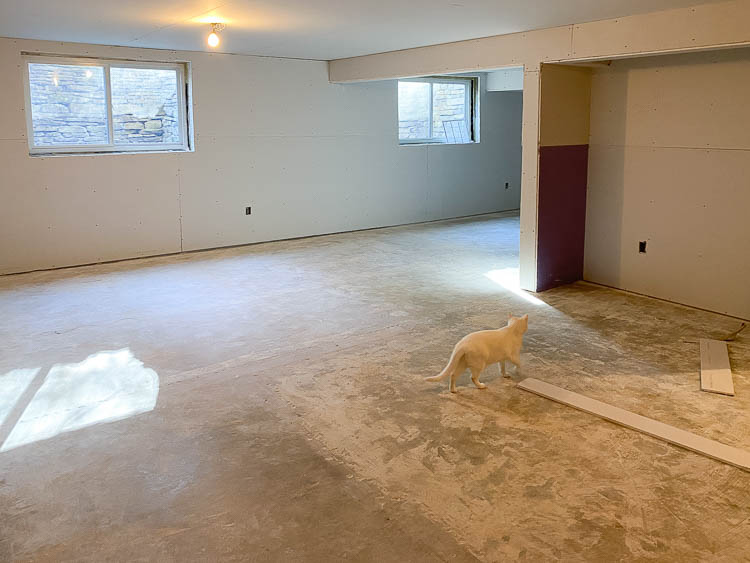 Drywall installation in basement and cost to install drywall