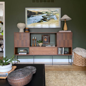 media console styling