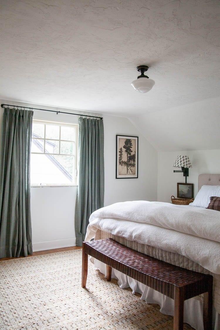 Digital art download in transitional modern bedroom