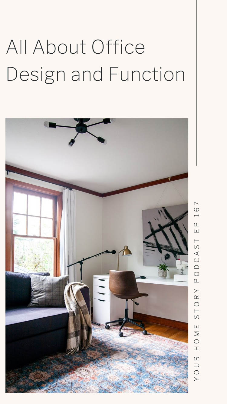 office design with white walls, wood trim, a white desk and faux leather seat