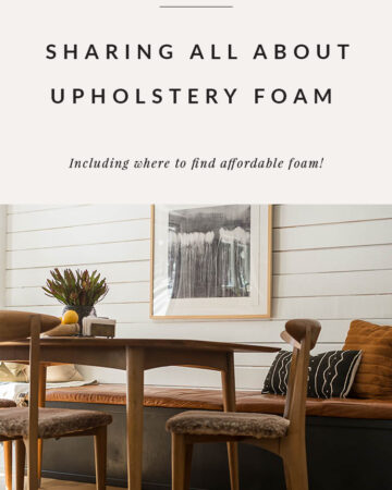 Upholstery foam where to buy