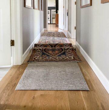 non slip rug pad for runner rug