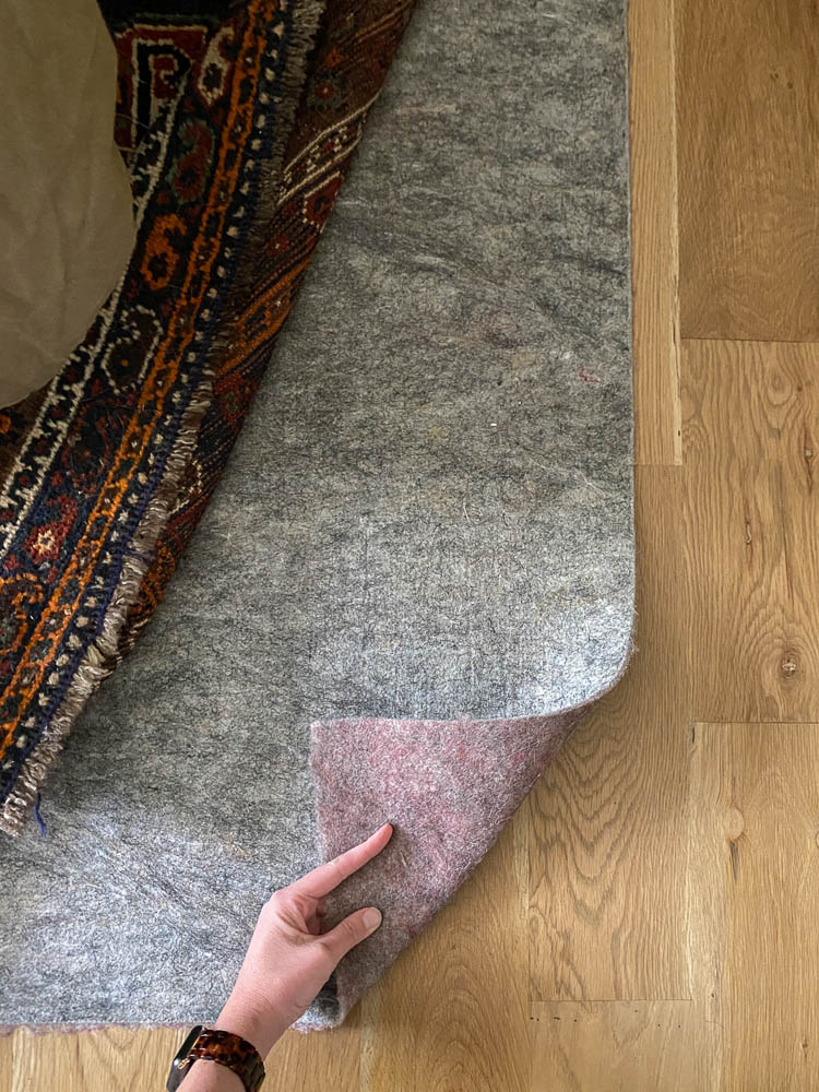 Best rug pad for underneath bed is a felt rug pad