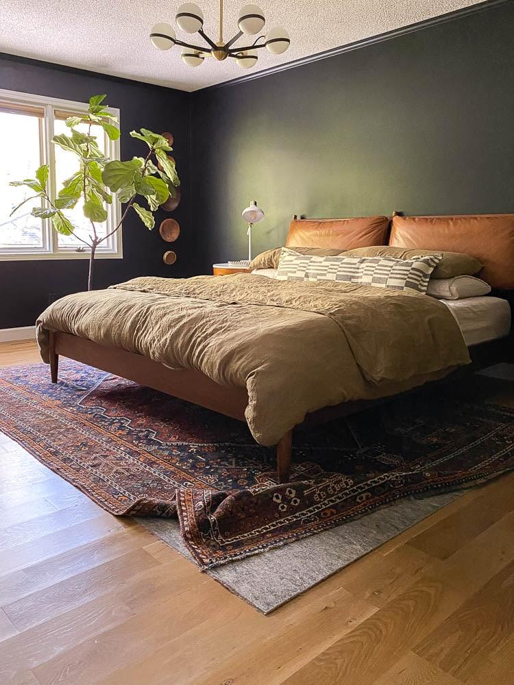Felt rug bad under bed for hardwood floors
