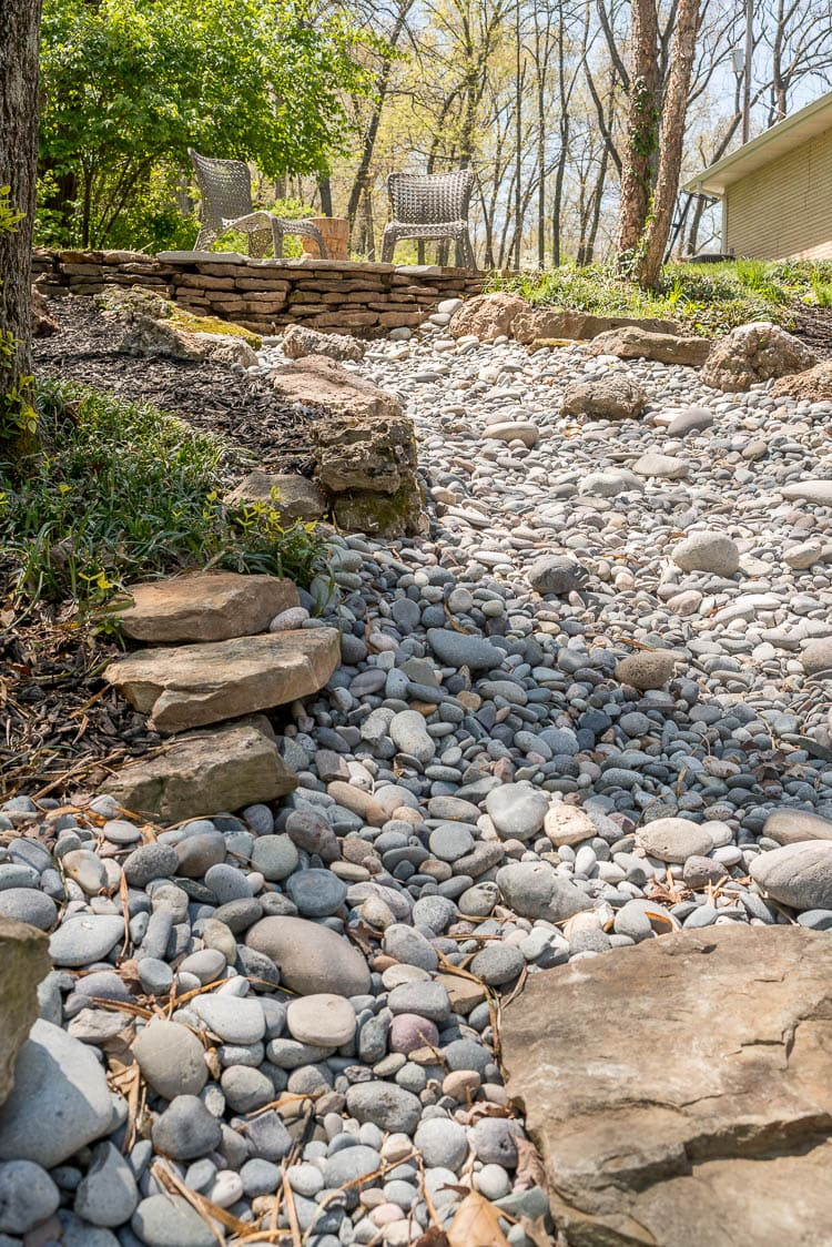 Rock Creek landscaping idea for the front of the house