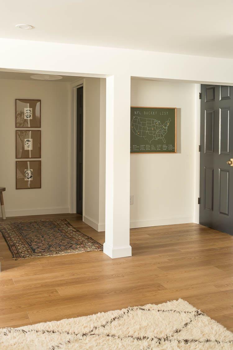 Rigid Core Luxury Vinyl Basement flooring in Oak