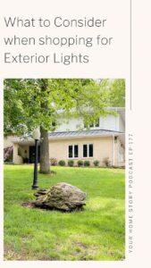 exterior lighting choices