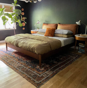 striped linen sheets in our bedroom and a review of linen sheets