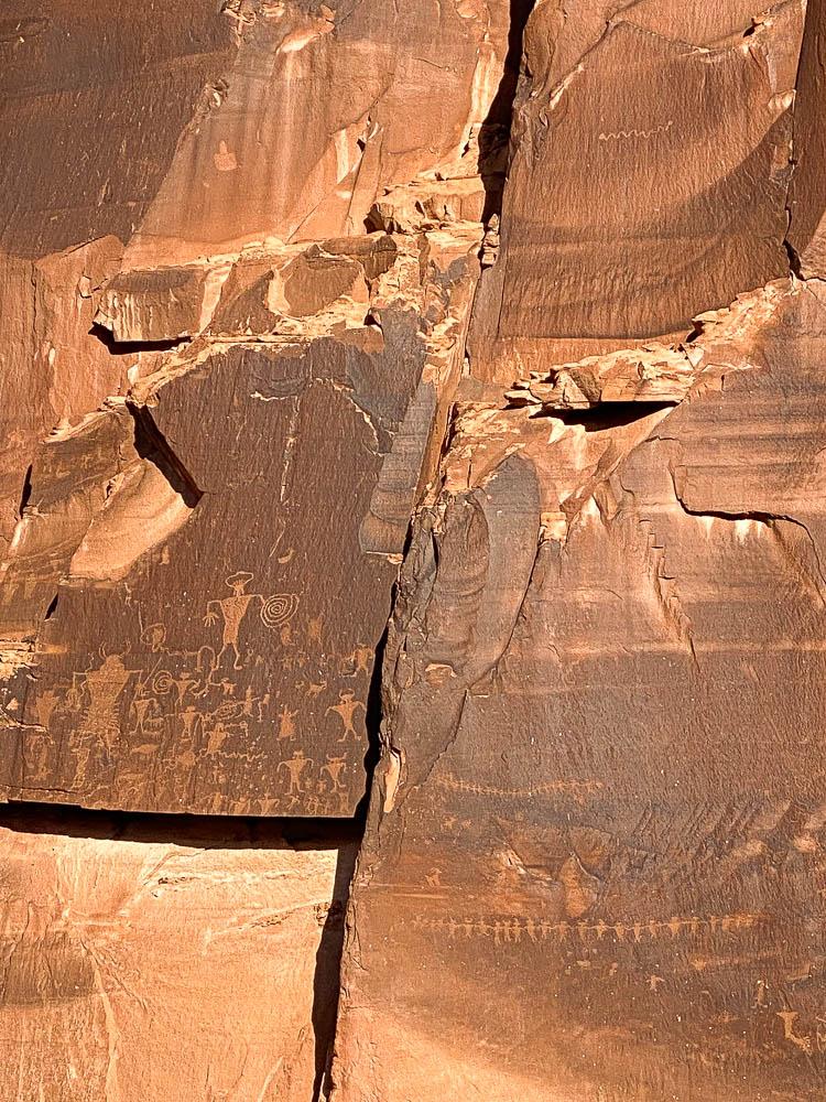 Dinosaur Tracks and Petroglyphs in Moab, Utah