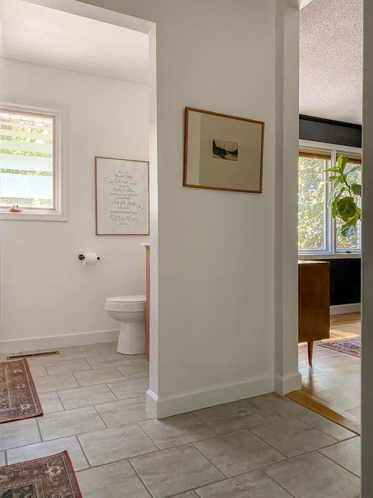 window privacy DIY for Bathrooms