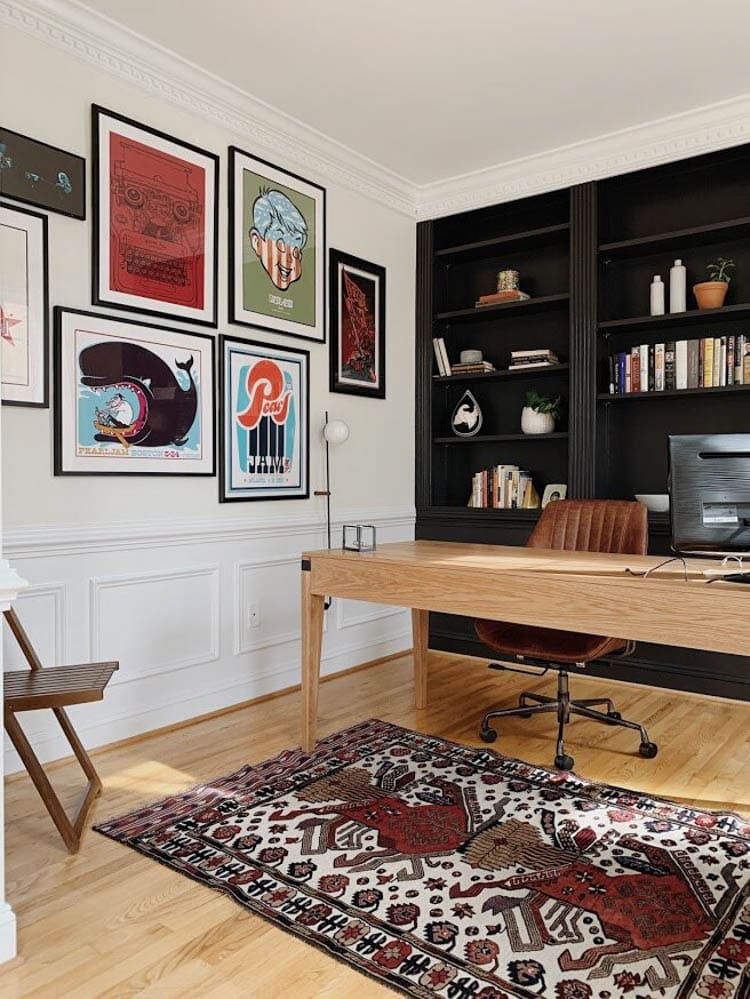 Office designed space by Chelsea from StyleMutt Home