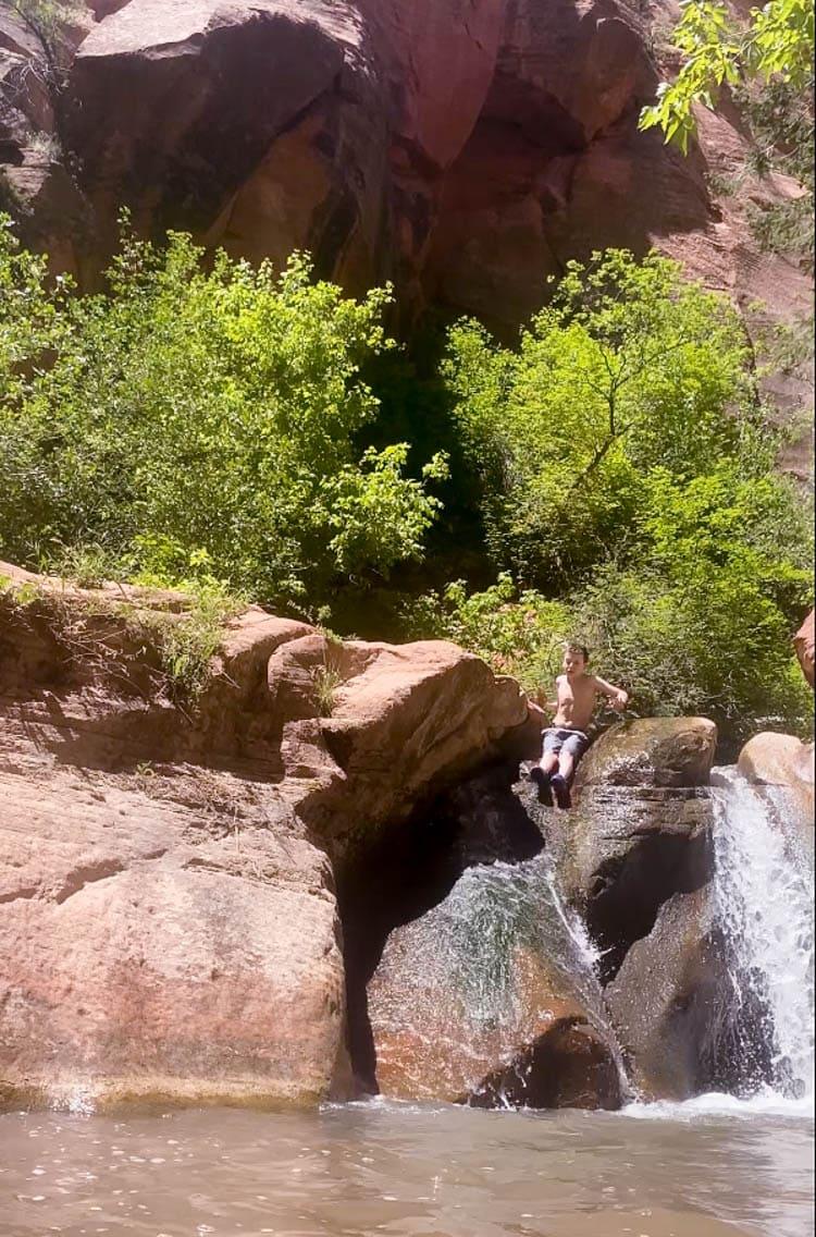 kanarra falls slide