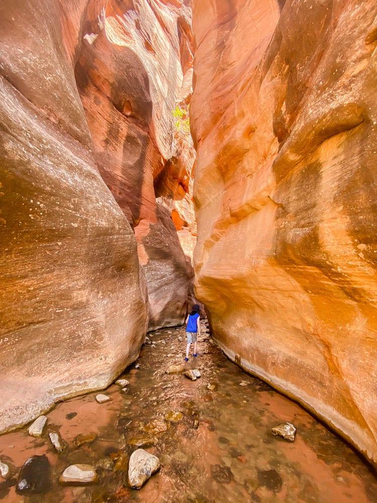 Slot canyon trail in Kanarraville Utah