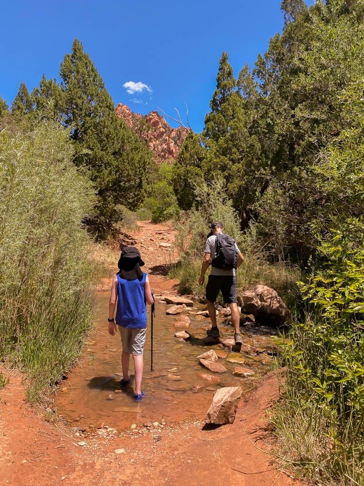 Slot canyon trail at Kanarra Trail