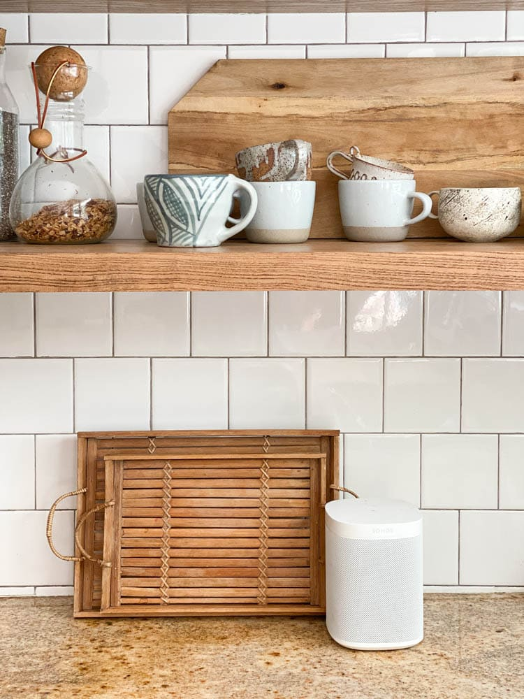 Alexa Sonos in kitchen for smart home automation systems.