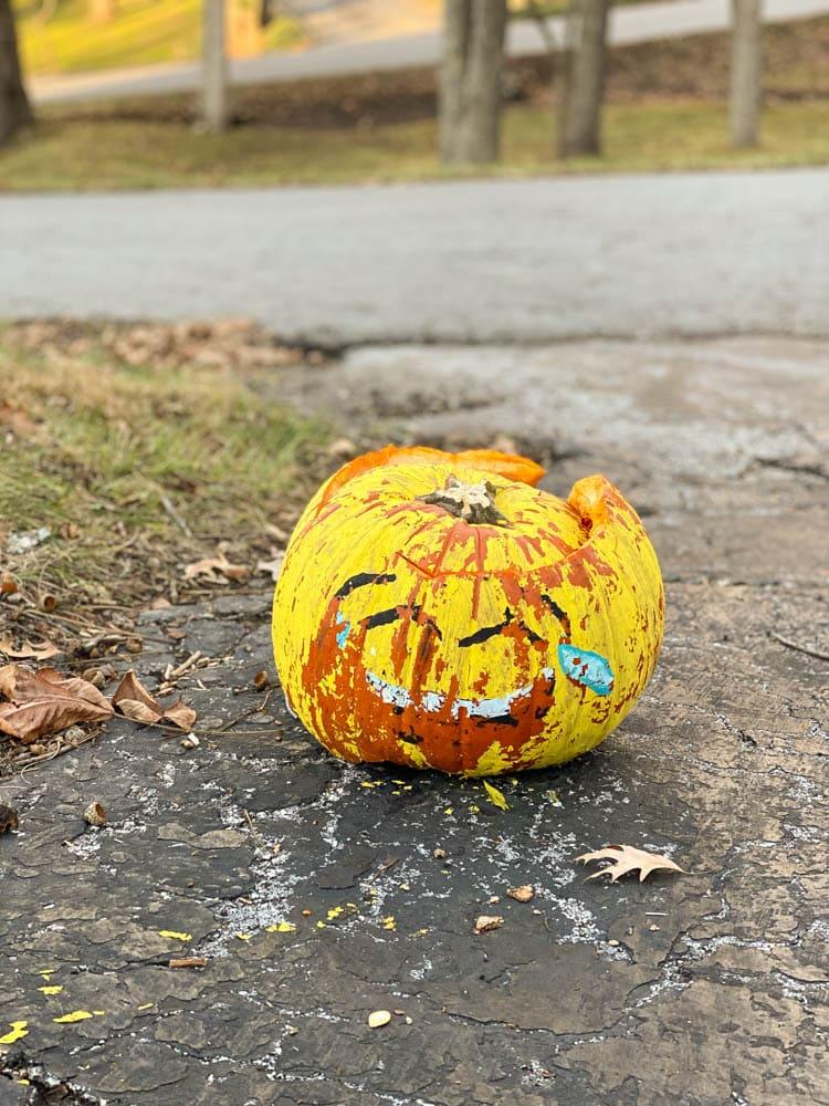 halloween activities for adults - pumpkin smash