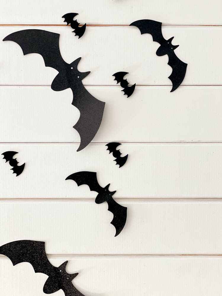 paper bats on wall in kitchen